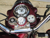 British Made Smooth Royal Enfield® Billet Stem Nut Cover with White Clock