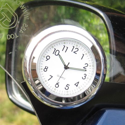 "British made Time-Rite ""Forty-Four"" Classic Car Dashboard Clock - White Clock"