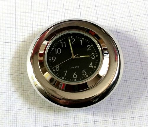 British Made BMW Stem Nut Cover with Black Clock