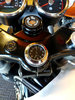 British Made Royal Enfield Interceptor and Continental GT Stem Nut Cover with Black Clock