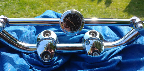 British Made Royal Enfield Interceptor Brace-Bar Clock Cover with Black Clock